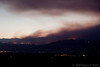 The Four Mile Canyon Fire seen from Sandstone Park in Longmont Colorado