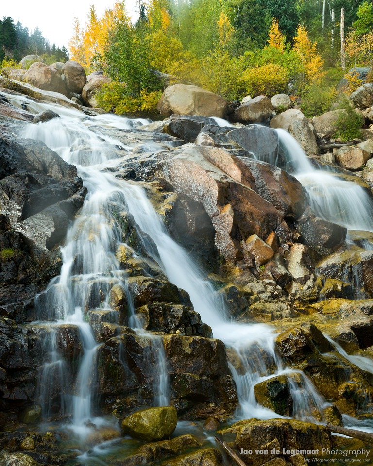 Alluvial fan in fall