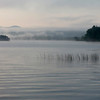 White mist over lake Umbagog in New Hampshire