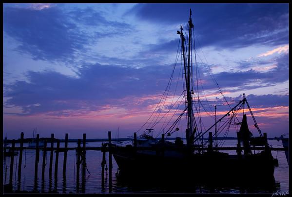 Fernandina Marina Shrimpboat at Sunset, Amelia Island, FL
