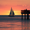 Sailboat at sunset, Fort Myers, Florida