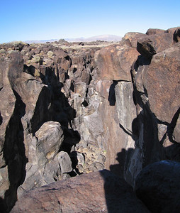 "Fossil Falls, 1 March 2007.  Looking ""upstream."""