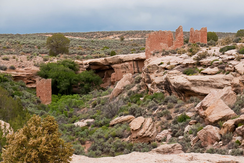 Hovenweep National Monument, Colorado.  The ancestral Pueblo people lived here from about the year 700 to the late 1200's.  It is thought that prolonged drought, overuse of natural resources, and possibly internal strife led to the the eventual abandonment of the region.  The people moved to the Rio Grande in New Mexico and the Hopi mesas in Arizona.