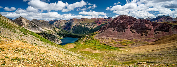 Panoramic Vista over Snowmass Lake