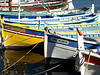 Barques de pêcheurs dans le port de Sanary