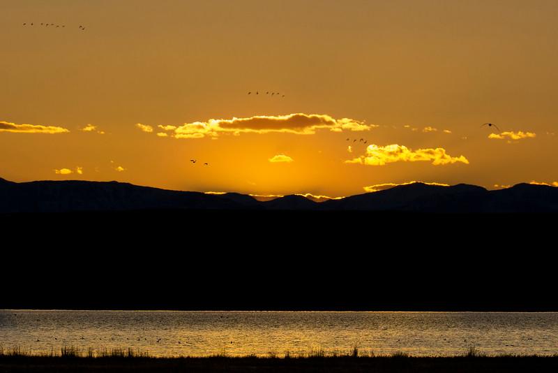 Sunset at Freezeout Lake