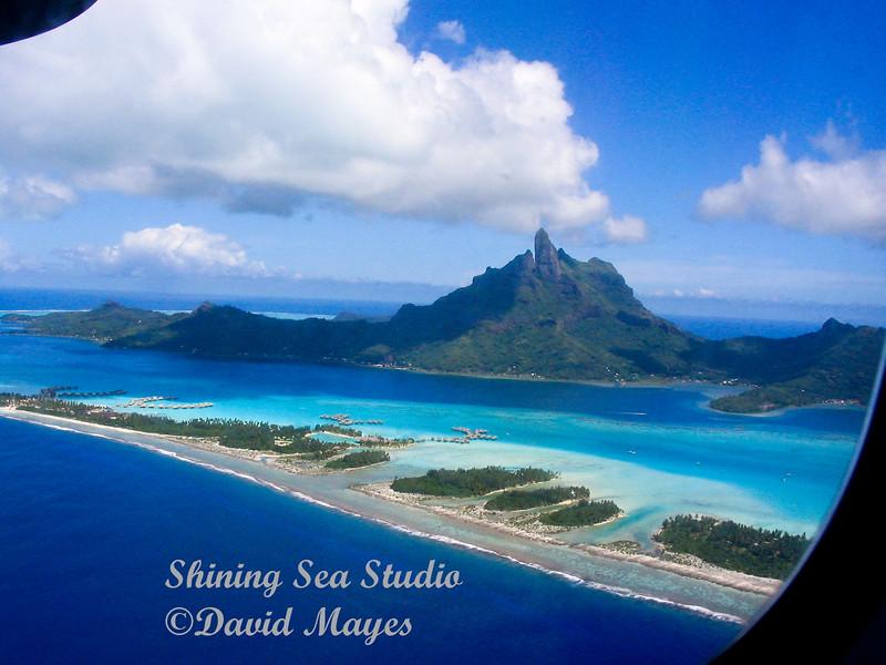 Arriving at Bora Bora
