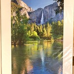 """Yosemite Falls. 21.5"""" x 29.5"""" Fine Art Matted print.  Arctic white acid-free mat with an acid-free foam core backing in a crystal clear sleeve. These are ready to be framed. Normally $450 each, SALE $75 each.  I can provide professionally-finished custom framing as well."""