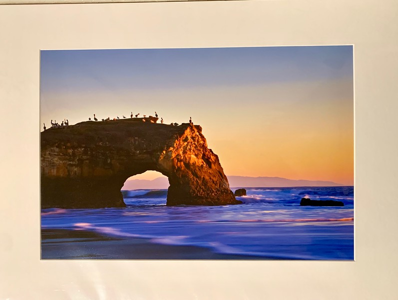 """Natural Bridges. 16"""" x 12"""" Fine Art Matted print. Print size is 11.25"""" x 7.5"""". Arctic white acid-free mat with an acid-free foam core backing in a crystal clear sleeve. These are ready to be framed. Normally $150, SALE $19 or 3 for $50.  I can provide framing as well."""