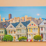 "30"" x 60"" Gallery-wrapped Giclée of the 7 Painted Ladies at Sunset in San Francisco, California.  Normally $900.  SALE $450.  9.5/10 Condition"