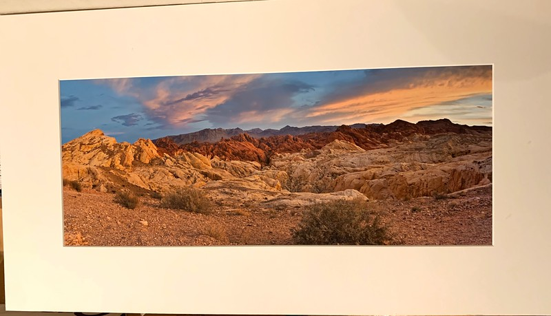"""Valley of Fire Panorama -. Matted Print. $50  Approx 18"""" x 36"""""""