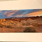 "Valley of Fire Panorama -. Matted Print. $50  Approx 18"" x 36"""