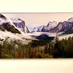 "HD  5 3/4"" x 11 3/4"" Acrylic Image of Tunnel View Yosemite.  Normally $99.  SALE $25. Condition 8/10"
