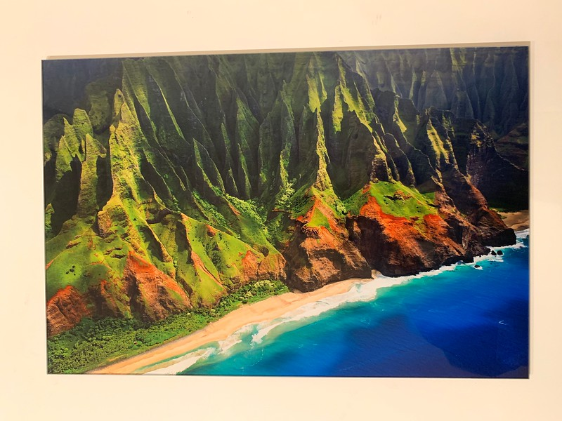 "12"" x 18"" HD Acrylic Image. ""Along the Napali Coast""  Normally $350.  SALE $150"