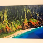"12"" x 18"" HD Acrylic Image. ""Along the Napali Coast""  Normally $350.  SALE $150"