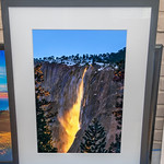 "SOLD!  34"" x 26"" Wood Framed Nature's Firefalls.  Print is 16"" x 24""  8 ply thick mat.  9/10 condition.  Normally $650.  SALE $249"