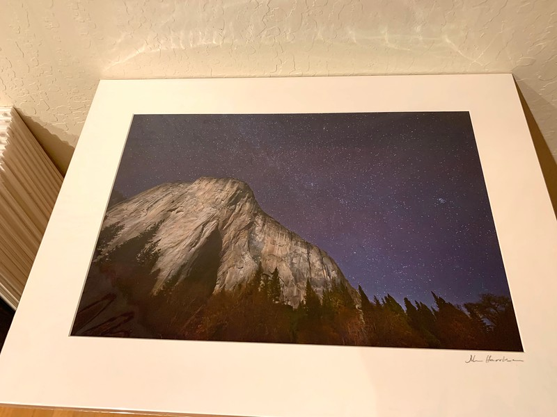 "SOLD   18"" x 24"" Fine Art Matted print. Print size is 12.5"" x 18.5"". Arctic white acid-free mat with an acid-free foam core backing in a crystal clear sleeve. These are ready to be framed. Normally $225 each, SALE $39 each or 3 for $99.  I can provide professionally-finished custom framing as well."