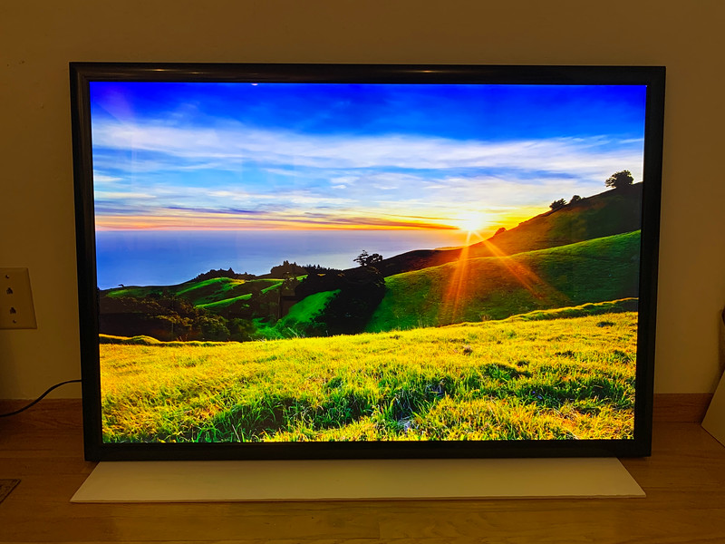 "24"" x 36"" LED Backlit Fine Art Lightbox panel and image - ""Spring Sunset in the Marin Headlands""  Normally $1500.  SALE NOW $299.  This uses a Premium LED advanced upscale lightbox made for fine art applications.  The image can easily be changed out to include other images"