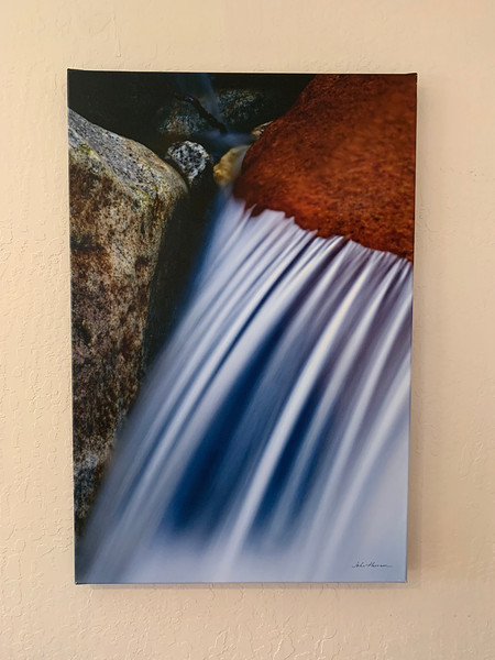 "24"" x 36"" Gallery-wrapped canvas Giclée ""Water Over Rocks""  Yosemite National Park.  Normally $550.  SALE $99  Condition 8/10."