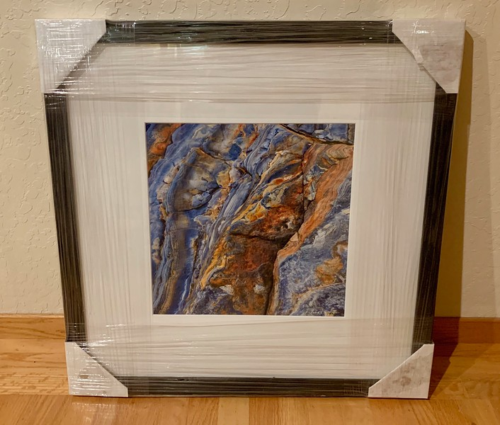 "Wood Framed image is 24"" x 24"" and the print 12"" x 12"".  Normally $450.  SALE $149"