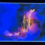 "24"" x 36"" Backlit ""Lava Flowing on the Big Island in Volcano National Park, Hawaii""  Normally $1500 SALE $249"