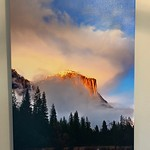 "SOLD!!  ""Last Light On El Capitan""  20"" x 30""  Condition 8/10.  Normally $350. SALE $99"