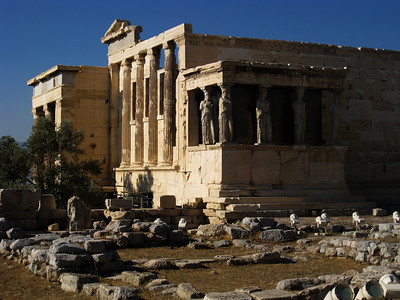 On top of the Acropolis next to the Parthenon and decorated with the muses lies the Erycthium.