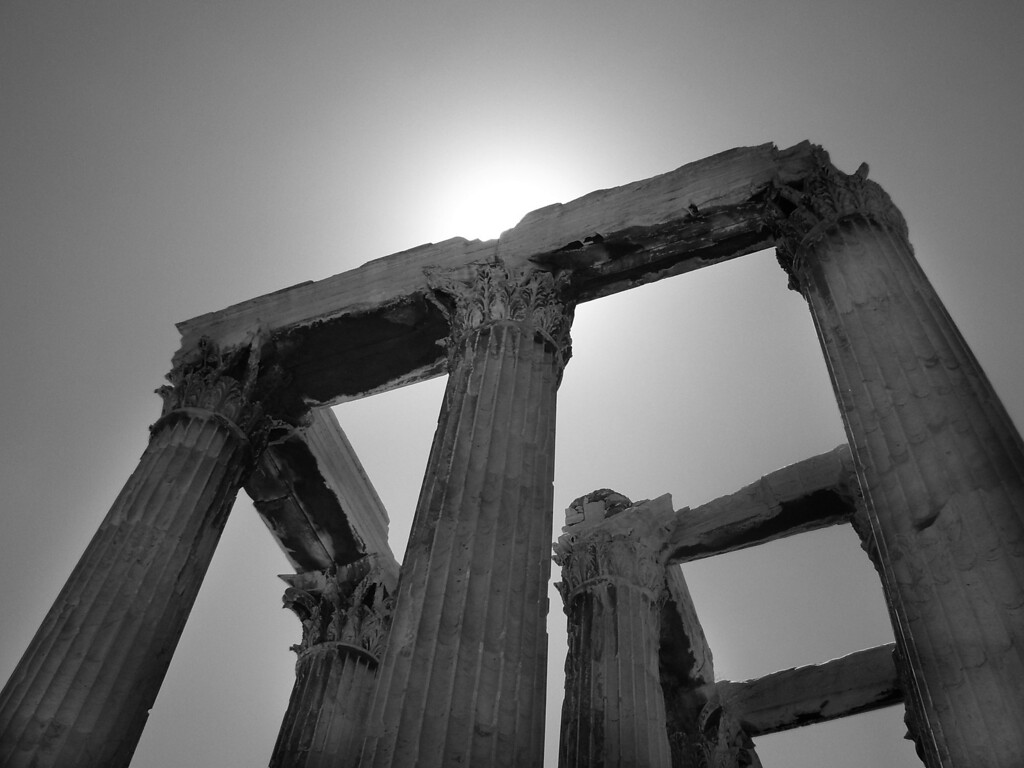 The Temple of Zeus in Athens. Awe inspiring.