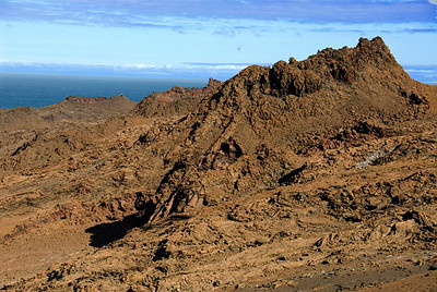 Galapagos Trip - Galapagos, Bartolome Island<br /> Twin lava tubes are visible in the center of the photograph