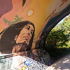 The giant mural on the underside of the Gorge Road Bridge has stood the test of time.