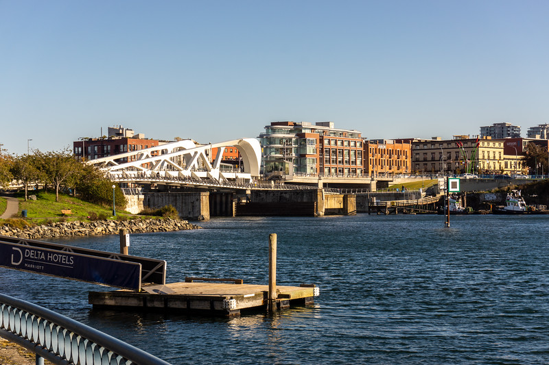Victoria Inner Harbour, with the new Johnson Street Bridge visible at left.