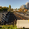 End of the line: with a new rail crossing cut to save money, the historic E&N Railway abruptly terminates a few hundred feet from the bridge into downtown Victoria.