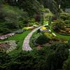 Butchart gardens overlook