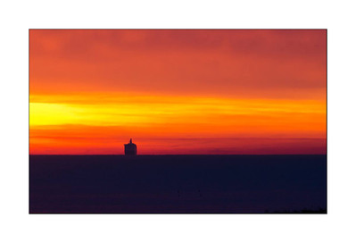 Sailing into the dawn - Whitley Bay