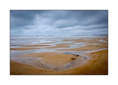 Low tide sand pools at Blyth