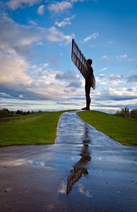 Angel of the North reflection