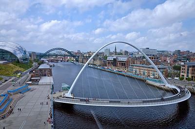 Tyne bridges from the Baltic