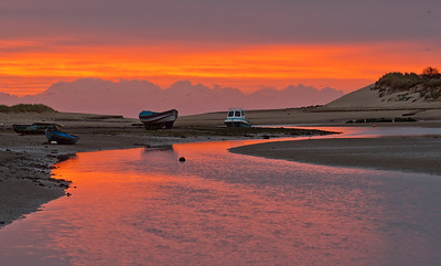 Red dawn Alnmouth
