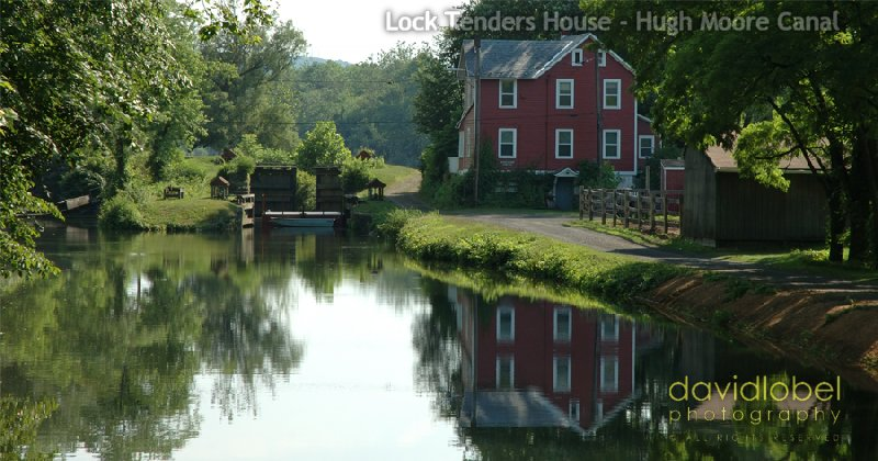 Lock Tender's House on the Hugh Moore Canal. Part of the Pennsylvania Canal System.