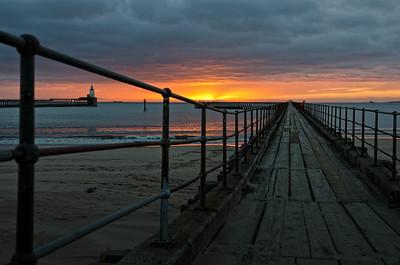 The old pier Blyth at sunrise