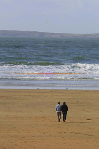 A april morning strole on the beach in Ballybunion. Pic Brendan Landy