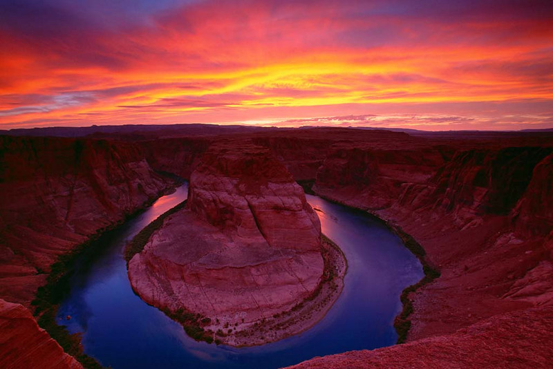 130Sunset at Horseshoe bend