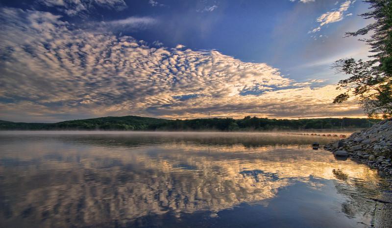 Lake Zoar, Summer morning