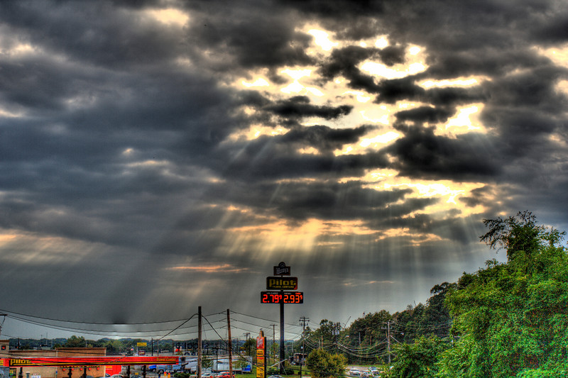 Sun Rays on Pilot Truck stop, off I95 in Milford, CT