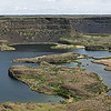 4 stitch panorama of Dry Falls of the Columbia