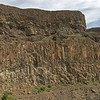 "A graphic example of the geologic formation ""columnar basalt"" located near Banks Lake."