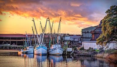 Shrim Boat Sunset