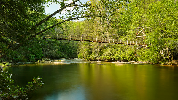 Toccoa River Swinging Bridge (Pano)