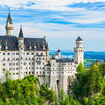 Schloss-Neuschwanstein_Munich-Germany-Deutschland-clouds-blue-skies