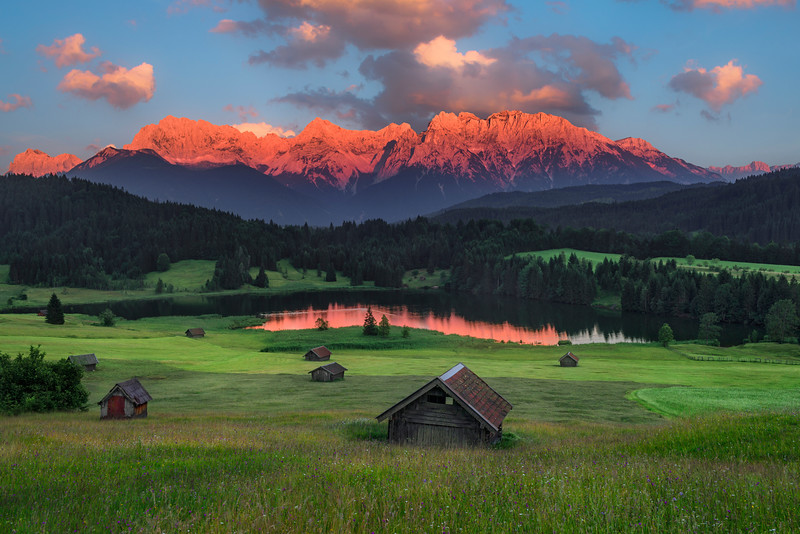 Bavarian Sunset in the German Alps